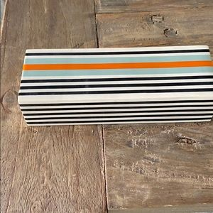 CONTAINER STORE container box striped wooden black